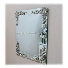 Frameless Metallic Wall Mirror 114 x 84cm