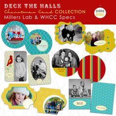 Gradybug Designs - Deck the Halls Christmas Card Collection - Templates for Photographers