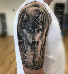 51 Ideas for tattoo ideas wolf wolves posts Wolf Sleeve, Wolf Tattoo Sleeve, Wolf Tattoos Men, Dog Tattoos, Tatoos, Tiger Tattoo, Grey Tattoo, Girls With Sleeve Tattoos, Tattoos For Guys