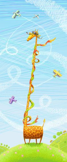 'Giraffe+aviator'+by+Iryna+Bodnaruk+on+artflakes.com+as+poster+or+art+print+$16.63