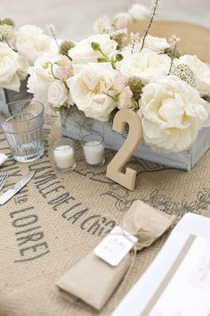 burlap wedding.