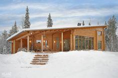Hirsitalo Saapunki 173 - Kuusamo Hirsitalot Atrium, Cottage Chic, Home Fashion, Shabby Chic, New Homes, Interior Design, House Styles, Outdoor, Dom