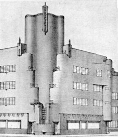 Kramer, De Dageraad Bauhaus, Dutch Netherlands, Amsterdam School, Art Deco, Clock Art, Architecture Drawings, Willis Tower, Ramen, Holland