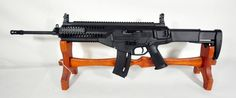 """Beretta ARX160 .22LR Rifle 18"""" *NIB*. The Beretta ARX160 in.22 L.R. is a faithful replica of the battle tested ARX160 serving with the Italian Military. The weight, balance, look, feel and most of the controls' placement and operation are just like the 5.56 mm x 45 NATO rifle. Features ambidextrous mag release and two position safety lever; MIL STD 1913 Pictanny rails, and adj polymer flip-up sights. Stock is both telescopic AND foldable. Weighs just 6 lbs unloaded. $579.99 Shotguns, Firearms, Revolver Rifle, Guns Dont Kill People, 22lr, Guns And Ammo, Rifles, Airsoft, Weapons"""