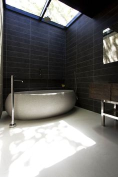 Bathroom at Elm & Willow House, Melbourne, Australia by Architects EAT