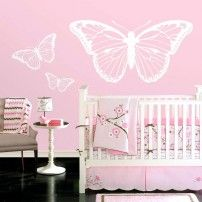 Butterflies Nursery Wall Decals - Set of 3