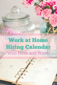 If you are looking to start working from home this year, here is an indication as to when we see the most job listings for certain positions.