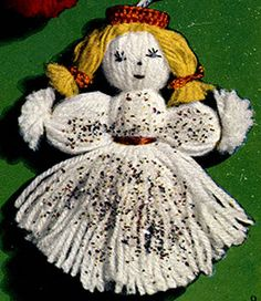 Link to download vintage  Angel yarn Ornament Pattern
