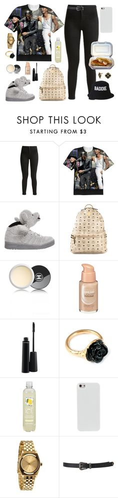"""""""My three friends -on my t-shirt- and myself hope you're enjoying your Sunday #GoodAppetiteToMe ^___^"""" by cissylion ❤ liked on Polyvore featuring Topshop, adidas, MCM, Chanel, Maybelline, MAC Cosmetics, C. Wonder, LeiVanKash, Nixon and HLZBLZ"""