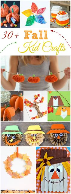 Fall kid crafts, fall arts and crafts, halloween ideas, herbst halloween, t Autumn Activities For Kids, Fall Crafts For Kids, Thanksgiving Crafts, Toddler Crafts, Craft Activities, Crafts For Teens, Preschool Crafts, Holiday Crafts, Easy Crafts