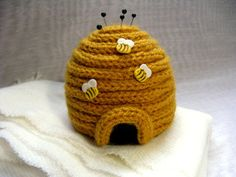 H'Ive Got Pins - Beehive Pincushion Pattern PDF. French/Spool Knitting