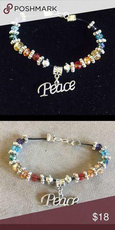 Chakra Bracelet Beautiful .925 and Swarovski Crystal Chakra Bracelet Jewelry Bracelets