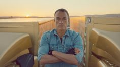 Watch Jean-Claude Van Damme carry out his famous split between two reversing trucks. Never done before, JCVD says it's the most epic of splits -- what do you think? Almost 30 million views in 5 days. Worth seeing more than once. #Damme