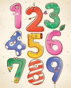Numbers poster by justyna szczepankiewicz in Typography