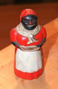 Vtg Aunt Jemima Salt Shaker F&F Mold and Die Works Dayton Ohio