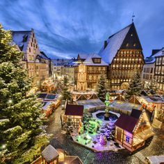 Christmas Market in Hildesheim, Lower Saxony, Germany