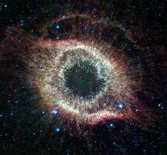 Infrared Helix nebula This spectacular object, a dying star unraveling into space, is a favorite of amateur and professional astronomers alike. NASA's Spitzer Space Telescope has mapped the expansive outer structure of the six-light-year-wide nebula,...