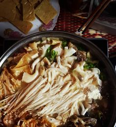 famous lau with dried tofu #hotpot #vietnamese #traditional #food #hanoi