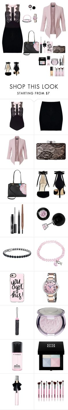 """""""GIRL BOSS - BLACK & PINK"""" by purplecc88criss ❤ liked on Polyvore featuring Miss Selfridge, Boohoo, LE3NO, Jessica McClintock, Karl Lagerfeld, Nine West, MAC Cosmetics, Journee Collection, Blue Nile and Casetify"""