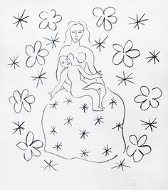 Matisse Lithograph Signed, Grande Vierge, 1950-51