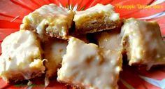 Pineapple Dream bars are little gems to take you to tropical places with every bite.  So easy to make and a perfect treat or dessert. www.amothersshadow.com
