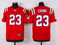 2f9a3eff0cf ... Mens New England Patriots 23 Patrick Chung Red Alternate NFL Nike Elite  Jersey ...