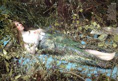 The Cult of Beauty: Saoirse Ronan por Steven Meisel para Vogue US Diciembre 2011 #ophelia #art