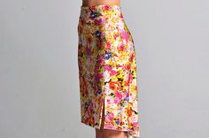 PAOLA light rose print Tango skirt with by ColeccionBerlin