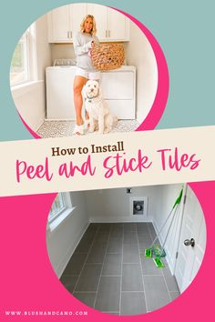 The best tips for how to install peel and stick floor tiles! These easy to use peel and stick floor tiles make switching up a space super quick and easy for anyone do to without major renovations or flooring installation! This is an awesome home decor DIY project! #homedecoridea #floortiles #homedecorproject #homediy #diyproject