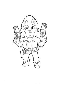 Watch my video to learn how to draw a super simple Colt from Brawl Stars. Always with free coloring page! Star Coloring Pages, Great Warriors, Sketches Tutorial, Different Emotions, Star Logo, Star Wars, Logo Color, Drawing S, Line Art
