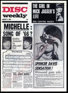 Newspaper Front Pages, Newspaper Article, Old Newspaper, Spencer Davis, Newspaper Headlines, Going Solo, January 8, Music Magazines, Songs