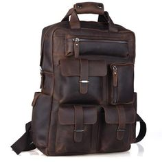CRAZY HORSE  GENUINE LEATHER TRAVEL BAGS *3 COLORS