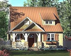 Plan 17736LV: Captivating Country Cottage PERFECT SIZE FOR DOWNSIZING AND GOOD FLOORPLAN