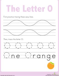 Worksheets: Letter O Tracing Practice