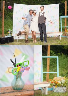 Nice easy backdrop for a DIY photo booth