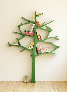Fun bookshelf idea.