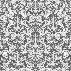 gray and white wallpaper | Grey seamless wallpaper pattern | Stock Vector © Nikolay Zaburdaev ...