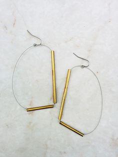 Minimalist Metal Tube Jewelry - Brass Series on Behance