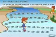Skip Counting Online Game - Cross The River Skip Counting Activities, Smart Board Activities, Math Games, Math Activities, Multiplication Games, Learning Games, Math Classroom, Kindergarten Math, Teaching Math