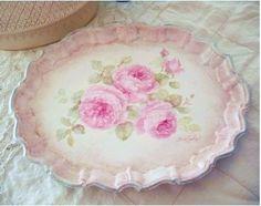 Shabby Chic ♥ Vintage Rose Tray
