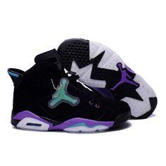 wholesale dealer fd936 cc6ac Air Jordan 6 Retro Mens Noctilucent tags Shoes Black Purple Jordan Shoes  For Women, Cheap