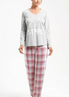 Adelina Pijama Takımı - GRİLİ/PEMBE Bloom Coffee, Dark Flowers, Pajama Pants, Tunic Tops, Model, Fashion, Moda, Sleep Pants
