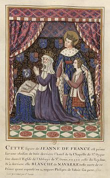 Blanche of Navarre (1331 - 1398). Queen of France from 1349 to 1350. She married Philippe VI and had one daughter.