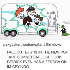 fall out boy punk rock text post Emo Bands, Music Bands, Music Stuff, My Music, Save Rock And Roll, Steampunk, Patrick Stump, This Is A Book, Band Memes