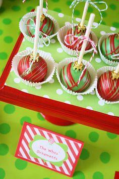 christmas ornament cake pop | amanda jayne events blog