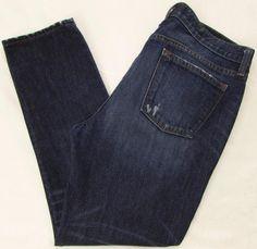 J.Crew Broken in Boyfriend Jeans Distressed Straight Leg Classic Rise sz 29 X 29 #JCrew #Boyfriend