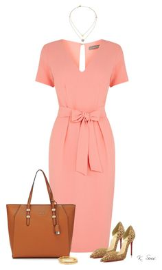 """""""Sunday Morning"""" by ksims-1 ❤ liked on Polyvore featuring Oasis, Christian Louboutin, Kate Spade and Michael Kors"""