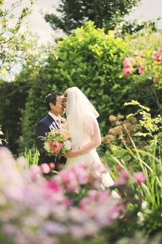 FROM THE ARCHIVES // Black & White Stripes & Pretty Floral, Secret Garden Wedding: Carolyn & Hid