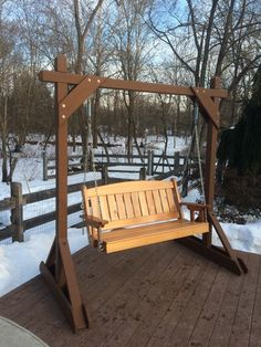 Bench swing with stand