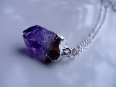 Intuition and Inner Wisdom - Amethyst Untumbled Nugget Pendant by CherylsHealingGems, $16.00
